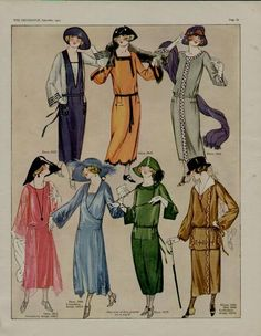 """September, 1922 fashions from """"The Delineator""""."""