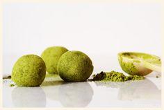 Trufas de té verde matcha y chocolate blanco, Matcha and white chocolate truffles