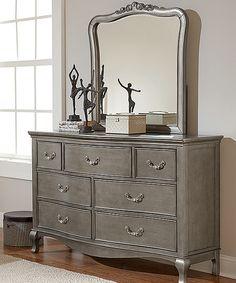 Antique Silver Kensington Mirrored Seven Drawer Dresser | zulily