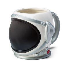 Blast off to outer space with your morning coffee thanks to this Astronaut Helmet Mug. This ceramic mug is shaped like an astronaut's helmet. It holds 20 Astronaut Helmet, Creative Coffee, Cute Cups, Cool Mugs, Mug Cup, Tea Mugs, Mug Designs, Tea Set, Coffee Cups