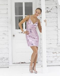@Blush Prom C077 Pink fully sequined #Cocktail #Homecoming #Prom #Dresses #IPAProm #Prom360