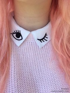 Want to play around with your collars. Read this article to know how to style your collars. Asian Fashion, Diy Fashion, Street Fashion, Ideias Fashion, Womens Fashion, Fashion Outfits, Fashion Design, Mode Kawaii, Diy Broderie