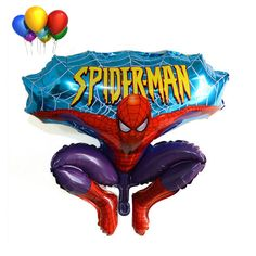 68x116cm Aluminum balloon ball hunchback spiderman cartoon balloon children birthday party festive decorative supplies special #Affiliate