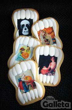 Galletas y papel de azúcar. Todo listo para halloween