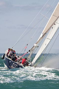 The X402 yacht 'Phoenix' racing  during Aberdeen Asset Management Cowes Week #sailboats #boats #sailing
