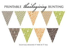 FREE Printable Thanksgiving Bunting