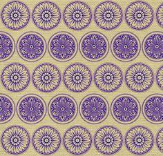 Textile Circles Art Print