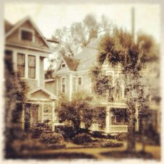 North Hill Neighborhood Pensacola Fl distressed Iphoneography using grunge app