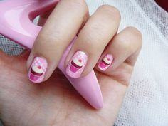 Cupcake Full Nail Fusion Decals - $5.99. http://www.bellechic.com/products/46ccefff9f/cupcake-full-nail-fusion-decals