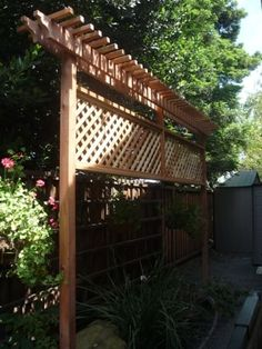 Pergola For Front Of House Privacy Fence Landscaping, Privacy Fence Designs, Privacy Screen Outdoor, Backyard Privacy, Backyard Fences, Backyard Projects, Backyard Landscaping, Privacy Fences, Fencing