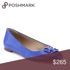 Tory Burch Leather Flats Tory Burch Leather Flats.  NWT.  Gorgeous color! Tory Burch Shoes Flats & Loafers
