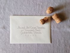 Hand Addressed Envelope Script Style by KatieHoffmanInk on Etsy