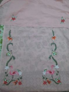 Embroidery Suits Punjabi, Embroidery Suits Design, Embroidery Fashion, Hand Embroidery Designs, Punjabi Suit Simple, Salwar Suits Simple, Designer Party Wear Dresses, Kurti Designs Party Wear, Punjabi Dress Design