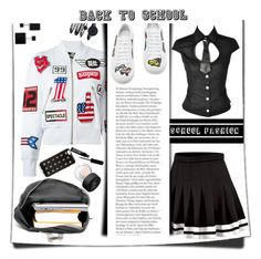 """""""Back 2 School"""" by emcf3548 ❤ liked on Polyvore featuring Love Moschino, Kane, Mira Mikati, Anne Klein, Vita Fede, NARS Cosmetics and J.Crew"""