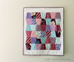 Scrappy Tumbler Baby Quilt made by Karin Jordan - Leigh Laurel using the Sizzix BigZ L die - Tumbler