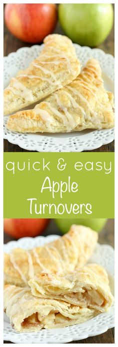 Easy homemade apple turnovers made with puff pastry and a delicious apple filling. Perfect for breakfast or dessert!