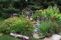 love wagon wheels in the landscape