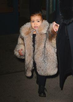 Just a casual fur coat look, any questions?   - MarieClaire.com