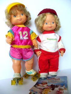 Boneca Lú Patinadora e Lú Esquiadora década 80