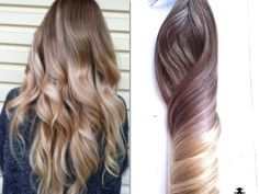 Balayage Hair Extensions, Ash Blonde and Gold Ombre Hair.  Balayage by NinasCreativeCouture, $230.00