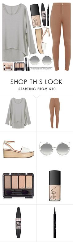 """""""School Style"""" by mirmir-825 ❤ liked on Polyvore featuring Marc Jacobs, Christian Dior, NARS Cosmetics, Maybelline, Givenchy, BackToSchool, school, sandals, blouse and jeggings"""