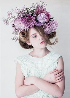 Mauve flower hat. La Petite Magazine- Issue 15 //petitapetitandfamily.com