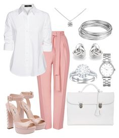"""""""Interview Ready Outfit"""" by amimareelynn ❤ liked on Polyvore featuring Topshop, Steffen Schraut, OHBA, Georgini, Marc by Marc Jacobs, Tiffany & Co., Worthington and Miu Miu"""