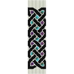 Celtic Knot - beading cuff bracelet pattern for peyote or loom (Buy Any 2 Patterns - 3rd. FREE)  - pdf. $4.00, via Etsy.