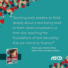 Read more about teaching early readers to think deeply about a text from the book, A Close Look at Close Reading: Teaching Students to Analyze Complex Texts, Grades K–5. #reading #literacy