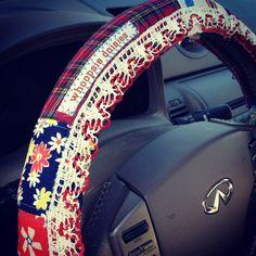 Hippie Chick Steering Wheel Cover by #whoopsiedaisies, $20.00
