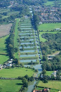The Devizes Locks from the air.