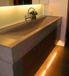 Concrete sink industrial