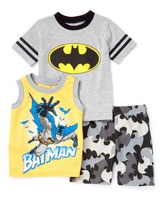 Look at this Gray Batman Tee Set - Toddler on #zulily today!