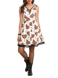 And on the second day of Christmas my husband gave to me... The Book Of Life La Muerte All Over Print Dress