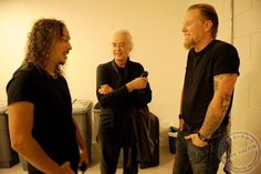 Jimmy Page and Metallica, photo: Ross Halfin