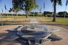 Belle Fourche, South Dakota, is the geographic center of the United States. The Center of the Nation monument includes flags from all 50 states and a picnic area.