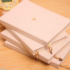 Blank Journal New Kraft Paper Sheet Hemp Hard Cover Diary Note Book Sketchbook