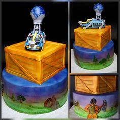 Fortnite Battle Royale #birthdaycake #airbrushedcake #handpaintedcake