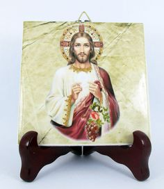 Hey, I found this really awesome Etsy listing at https://www.etsy.com/listing/218194590/christ-with-the-eucharist-from-a-vintage