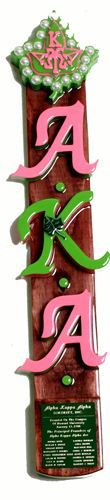 Alpha Kappa Alpha paddle...cute and only to be used as decoration.