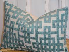 Decorative Pillow Cover 12x16 12 x 18 12x20 Capri Blue