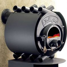 While trying to think of what would make a TreeHugger post go completely viral, I come up with green sex in front of a wood or pellet stove in a shipping container or treehouse. And this might be the stove, the Bullerjan, that