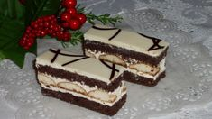 Jemné rezy s piškótami Desert Recipes, Graham Crackers, Vanilla Cake, Food Videos, Tiramisu, Ale, Food And Drink, Dinner, Cooking
