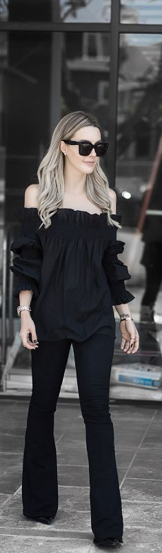 Blacked Out // Fashion Look by Lauryn Evarts