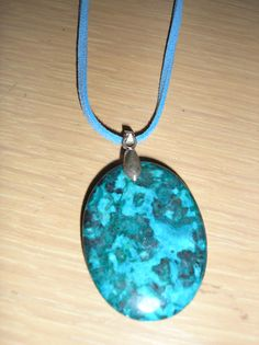 Blue laguna lace agate necklace by CreationsbyMaryEllen on Etsy, $6.75