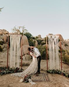 Bohemian wedding inspiration in Joshua Tree! Bohemian wedding inspiration in Joshua Tree! Elope Wedding, Wedding Shoot, Boho Wedding, Wedding Ceremony, Summer Wedding, Elopement Wedding, Wedding Venues, Wedding Desert, Wedding Table