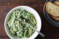 Two-Pea Pesto Chicken Salad, a recipe on Food52