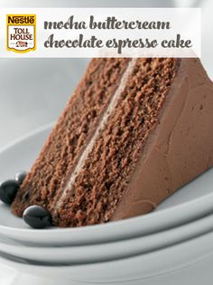 Mocha Buttercream Chocolate Espresso Cake