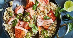 Give salmon a Thai-style makeover with this easy green curry with rice. Plus, you only need one wok to make it.