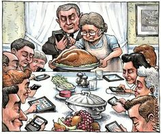 No cell phones should be allowed at the dinner table!!